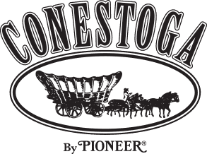 Corporate logo for Conestoga by Pioneer, a provider of various quality mixes for CH Guenther and Son.
