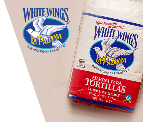 A package of White Wings La Paloma flour tortilla mix