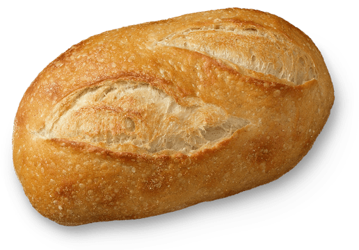 A close-up of a single loaf of artisanal bread